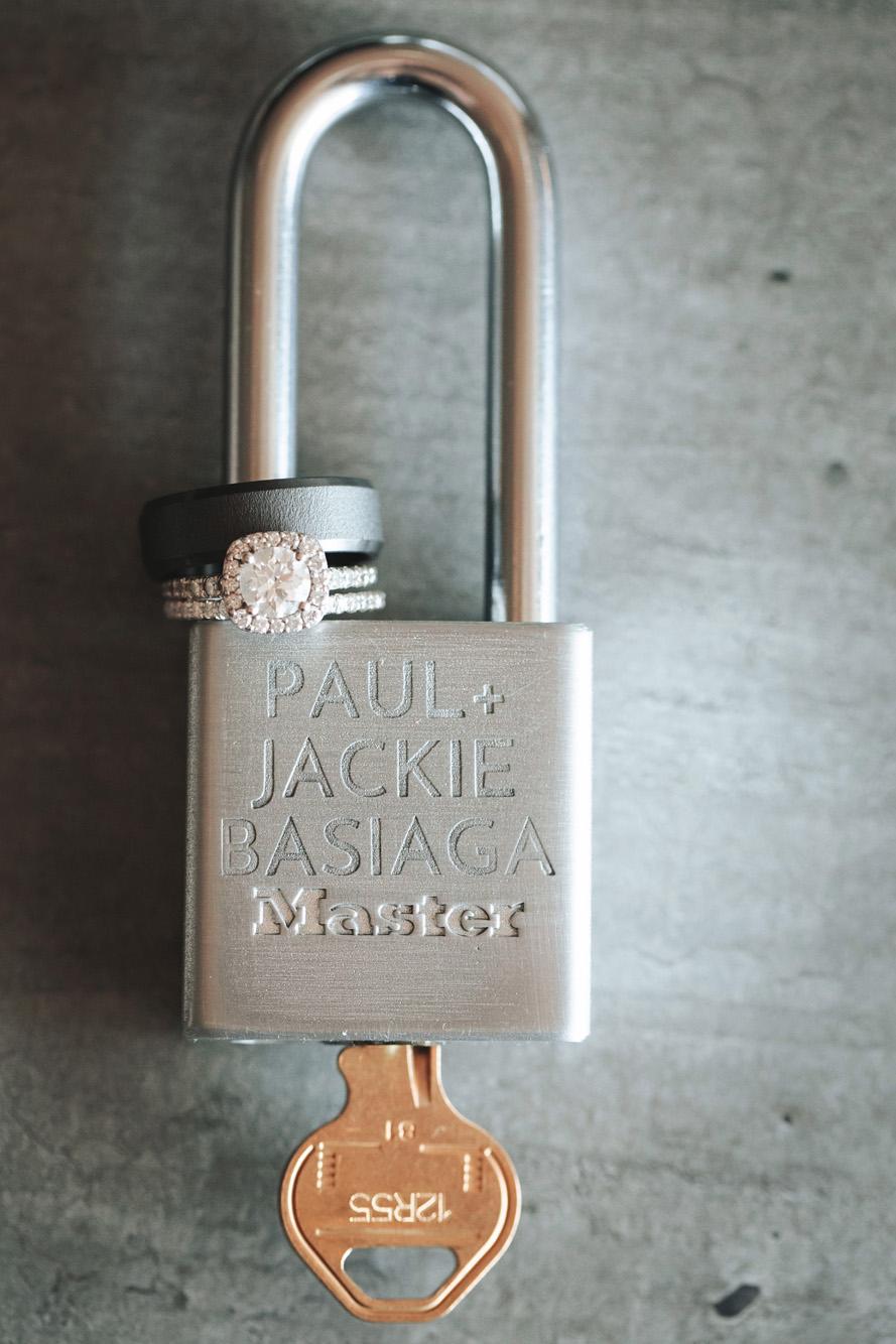 Engraved padlock